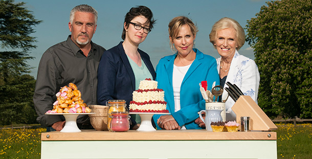 Presenter from The Great British Bake Off
