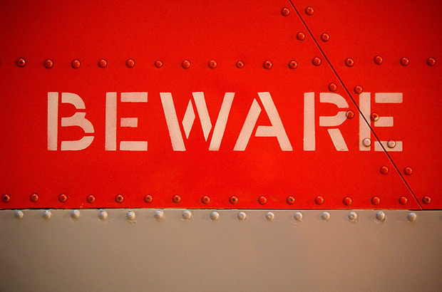 Beware sign used under licence from ING image