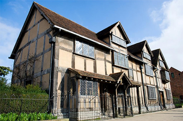 Shakespeare's home in Stratford-on-Avon