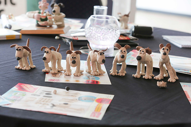 Clay models of Gromit (from Wallace and Gromit)
