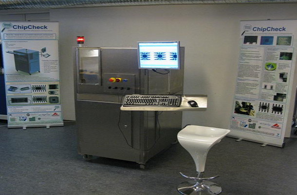 Photograph of a chip check system