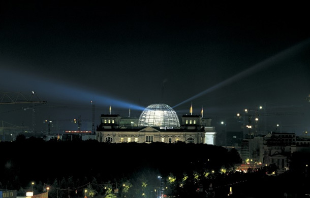 Norman Foster's reworking of the Reichstag: Berlin (photograph by Nigel Young).