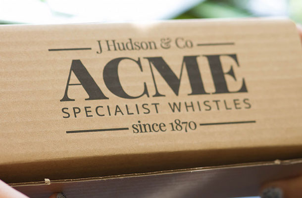 Image of ACME specialist whistles box.
