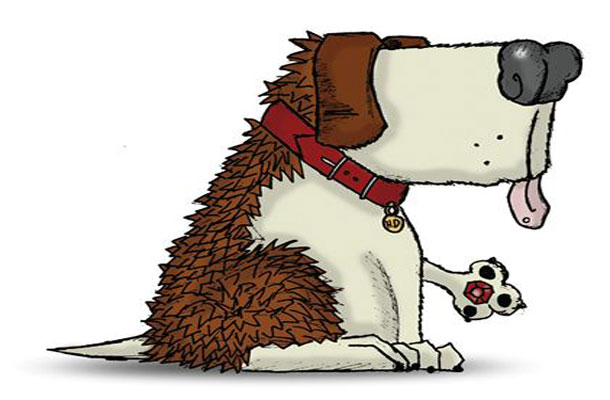 Image of Hedge Dog, the toy used in the IP exercise booklet.