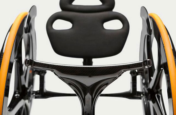 Close up image of Carbon Black chair.