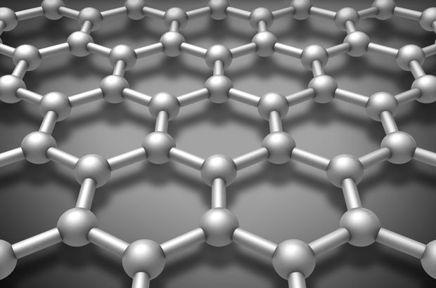 Image of a Graphene layered molecule structure schematic model.