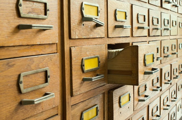 Image of old archive drawers.