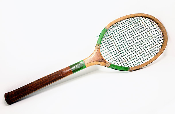 Wooden tennis racket