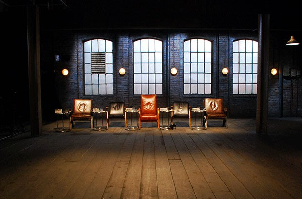 Image of Dragons' Den chairs in the den.