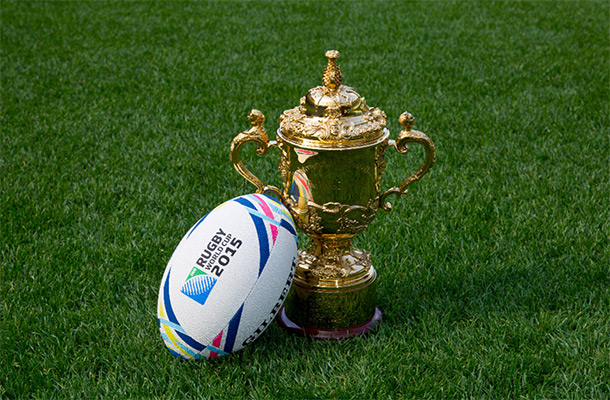 The Rugby World Cup – waiting to be claimed (© Rugby World Cup Limited)