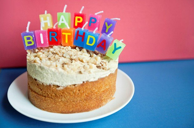 Image of a Happy Birthday cake.
