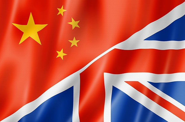UK and China flag illustratoin