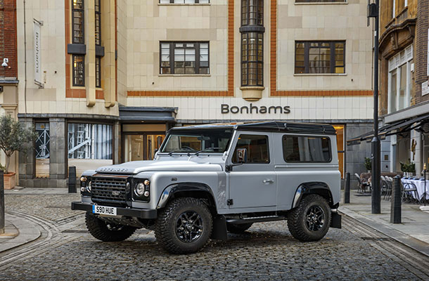 Image of the two millionth Land Rover Defender.