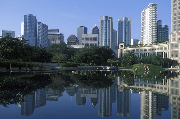 Image of Malaysian business district.