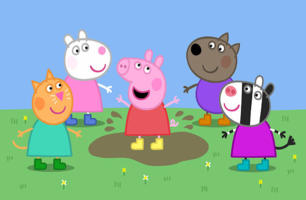 Image of Peppa and friends.