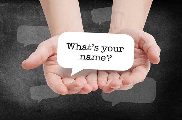 What's your name? in a speech bubble.