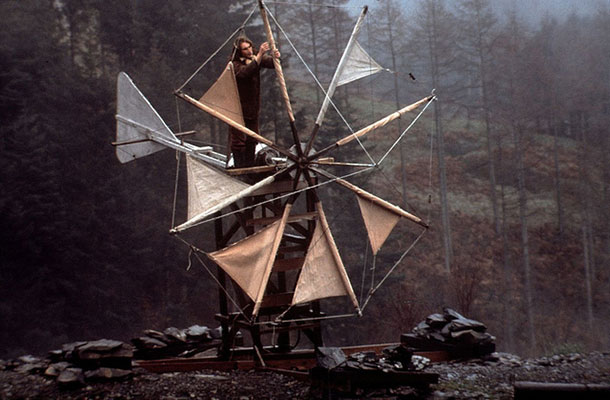 Early alternative – CAT's '70s style Cretan Windmill. The forerunner of today's wind turbine.