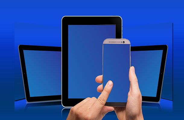 Image of tablets and mobile phones.