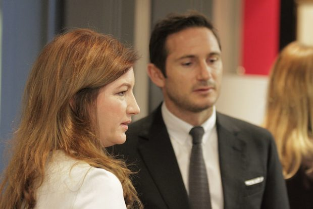 [Image of Karren Brady and Frank Lampard by U.S. Embassy London on Flickr used under Creative Commons.]