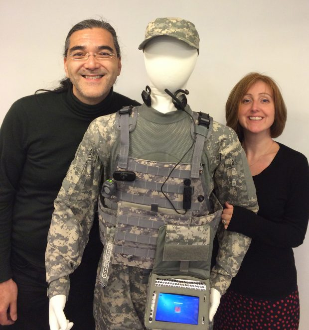 Asha and Stan today with the third member of their team: the soldier system.
