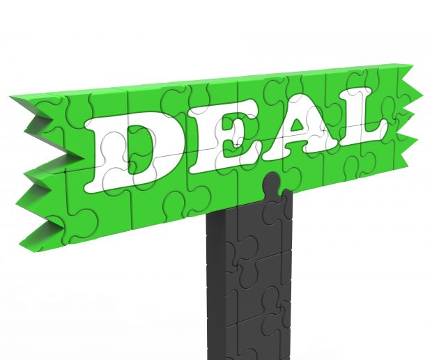 Deal Meaning Bargain Promotion Discount Reduction Or Agreement.