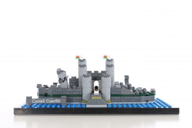 Caerphilly castle LEGO build.