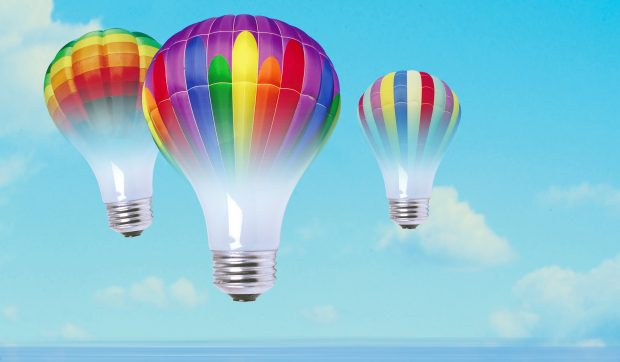 Idea and balloon concept.
