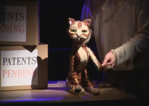 Patent examiner Arthur Paul Pedrick's cat, Ginger.