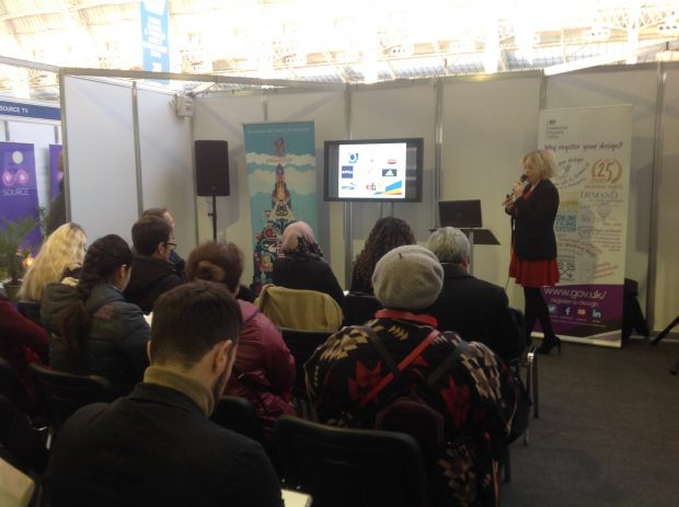 Business Outreach member Emma presenting at The Business Show