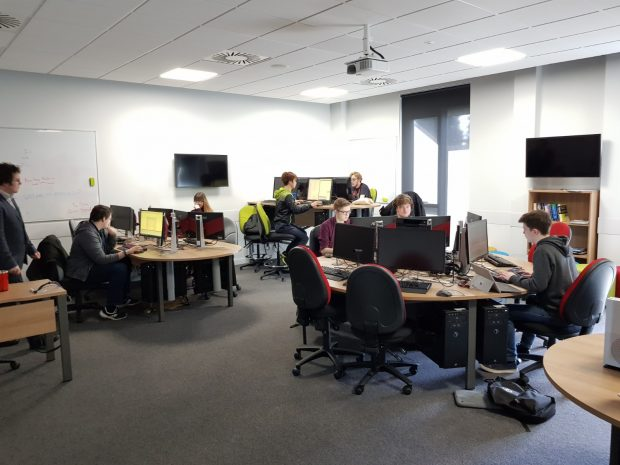 Game development students at Cardiff Metropolitan University.