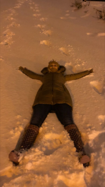 Me making a snow angel