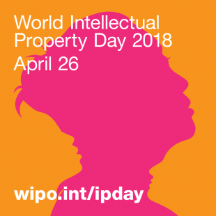 World Intellectual Property Day 2018 April 26 with woman's face in background