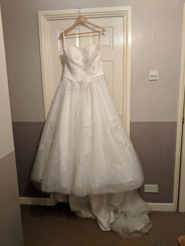 Caitlin's wedding dress