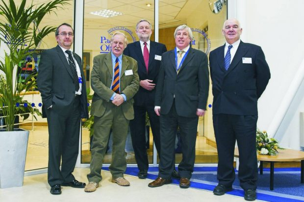 Left to right: Me, Trevor, David Bunting CEO Baylis Brands, Ron Marchant previous IPO CEO and John Grant OBE, Patent Attorney at Baylis Brands.