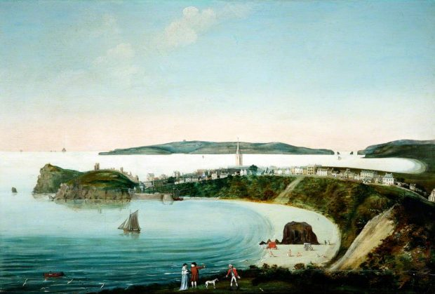 One of the first images of Tenby harbour was painting by William Golding in 1799.