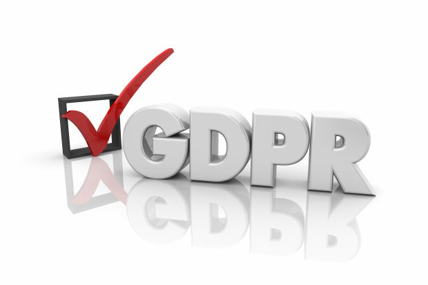 GDPR General Data Protection Regulation Check Mark Box 3d