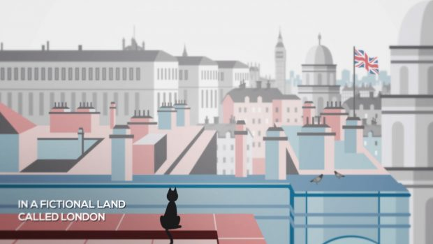 Background of London from one of the films.