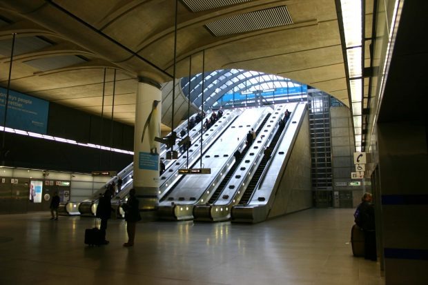 Canary Wharf Underground Station.