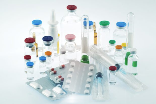 pharmaceutical products including vials and tablets