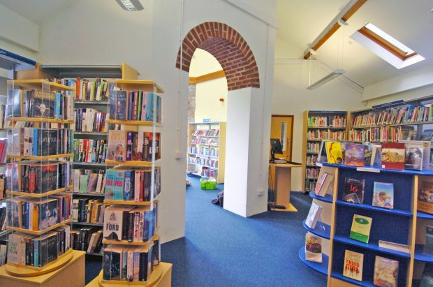 The crime and fiction section at Pembroke Library