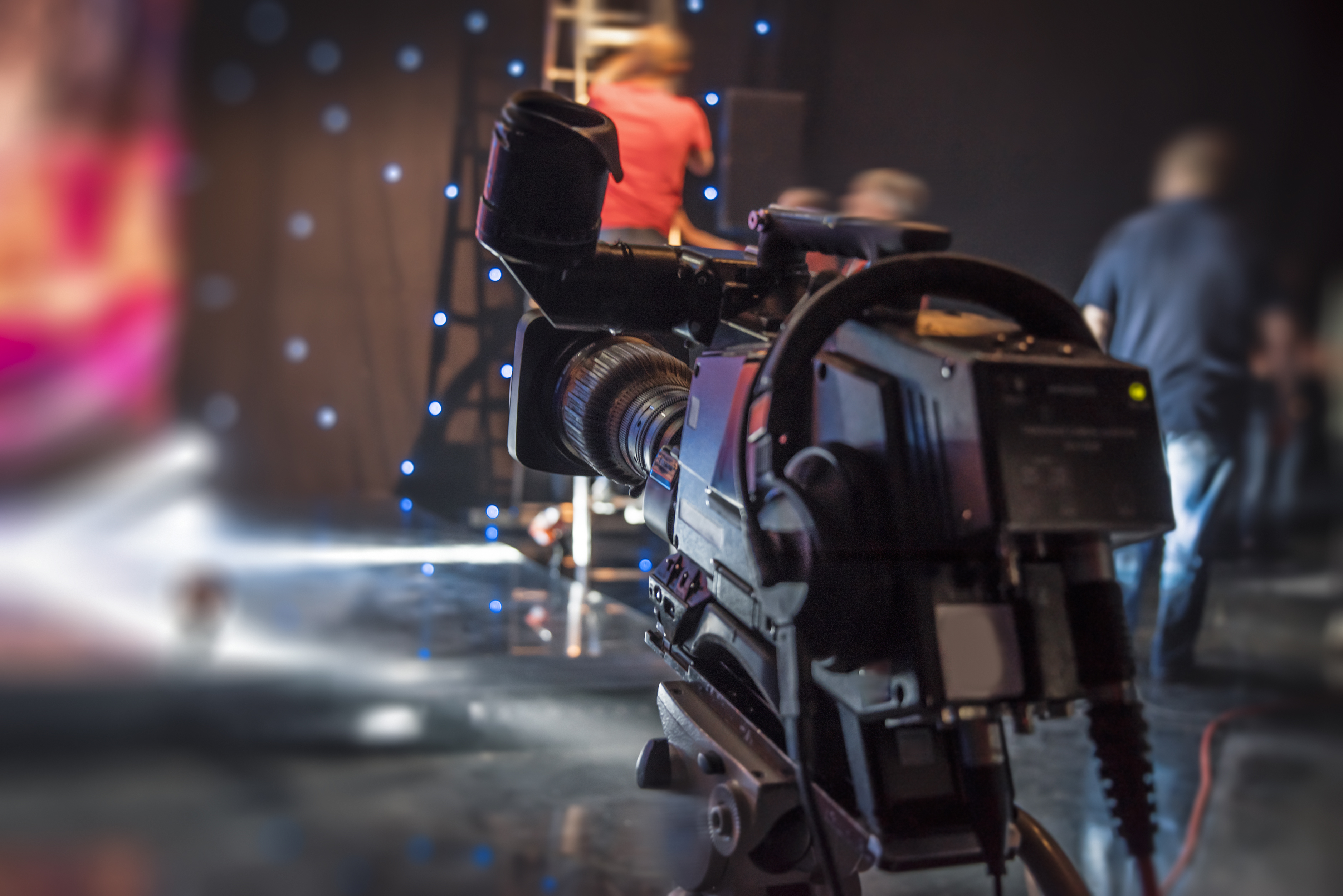 Shooting a television programme