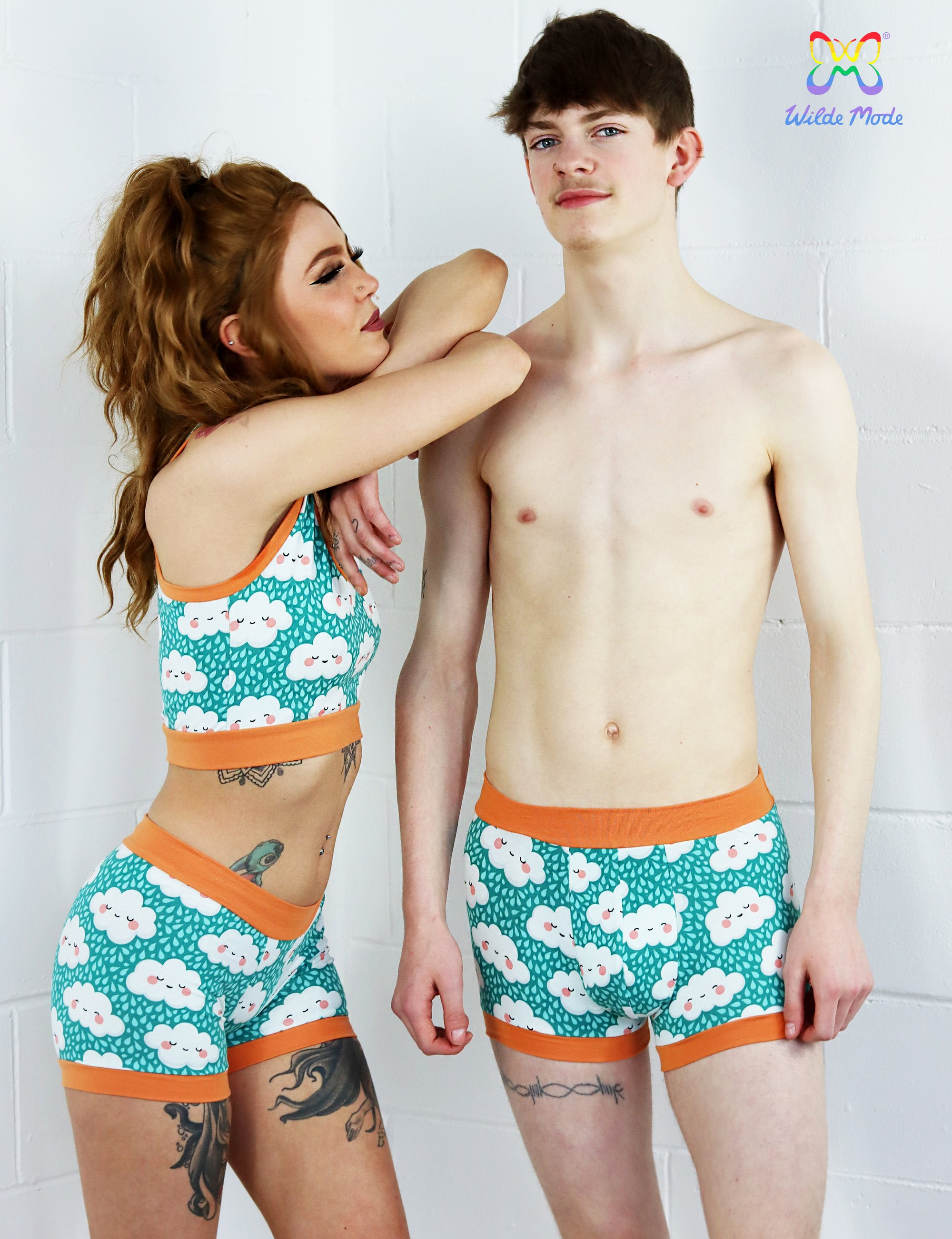 Wilde Mode Happily Little Clouds boxers