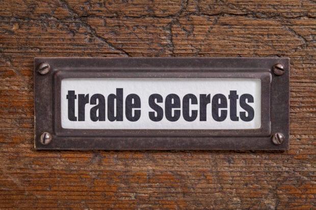trade secrets label